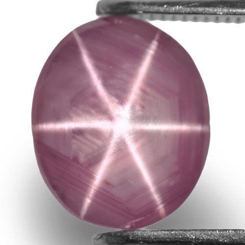 Sri Lanka Fancy Star Sapphire, 2.63 Carats, Greyish Pink Oval