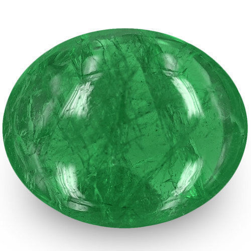 Zambia Emerald, 2.16 Carats, Deep Green Oval