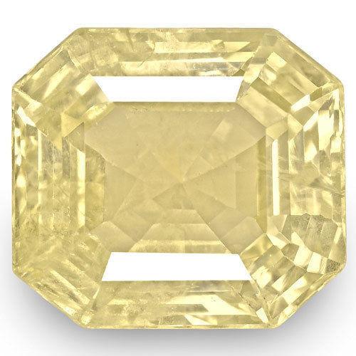 IGI Certified Sri Lanka Yellow Sapphire, 7.44 Carats, Intense Orangy Yellow