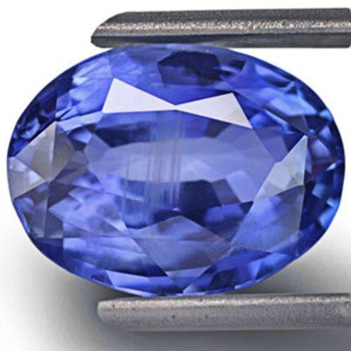 GIA Certified Sri Lanka Blue Sapphire, 5.72 Carats, Deep Blue Oval