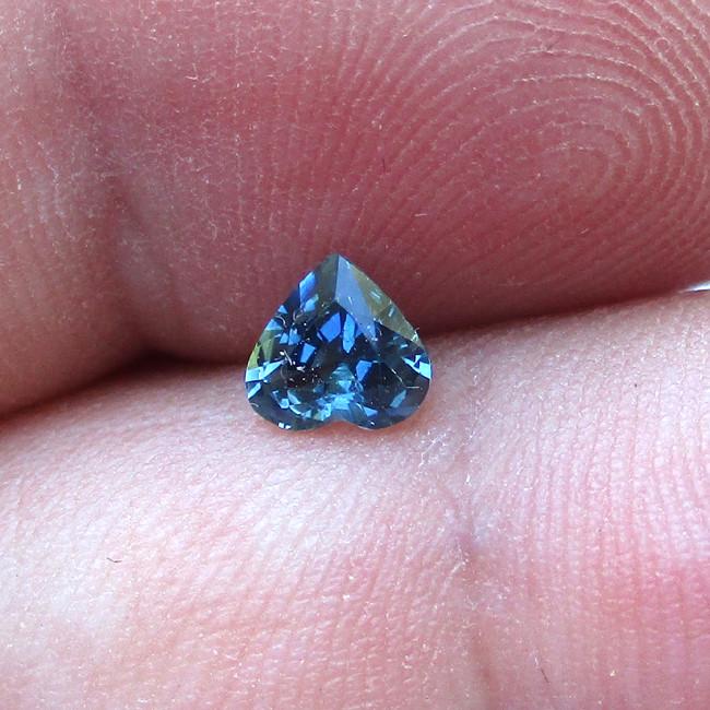 0.48cts Natural Australian Blue Sapphire Heart Shape