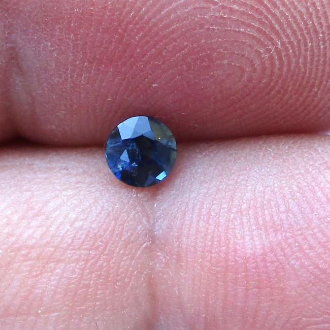 0.34cts Natural Australian Blue Sapphire Round Cut