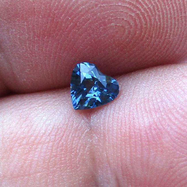 0.49cts Natural Australian Blue Sapphire Heart Shape
