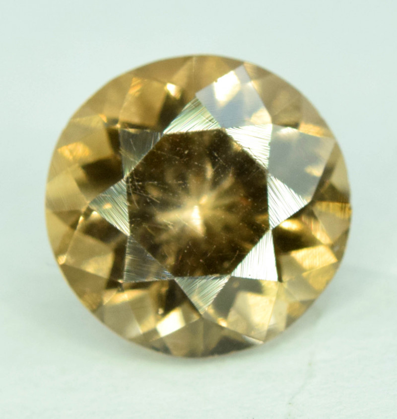 1.75 CT Top Brown Color Perfect Round cut Flawless Apatite Gemstone