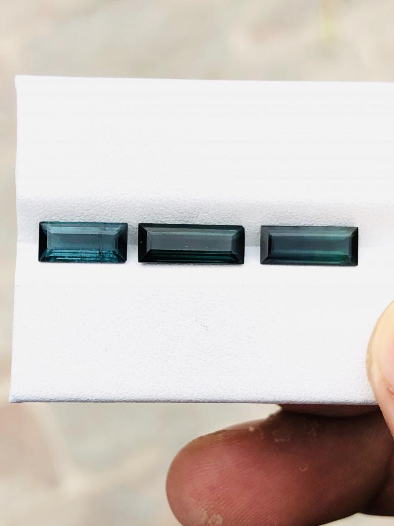 3.15 Ct Natural Dark Blueish Transparent Tourmaline Gems Parcels
