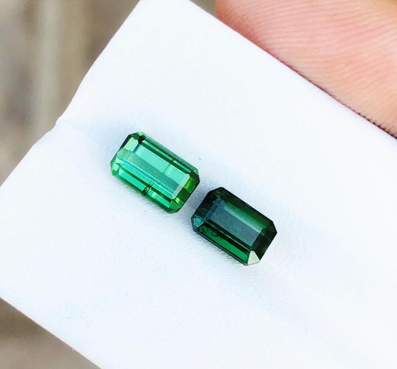 3.15 Ct Natural Greenish Transparent Tourmaline Gems Pairs