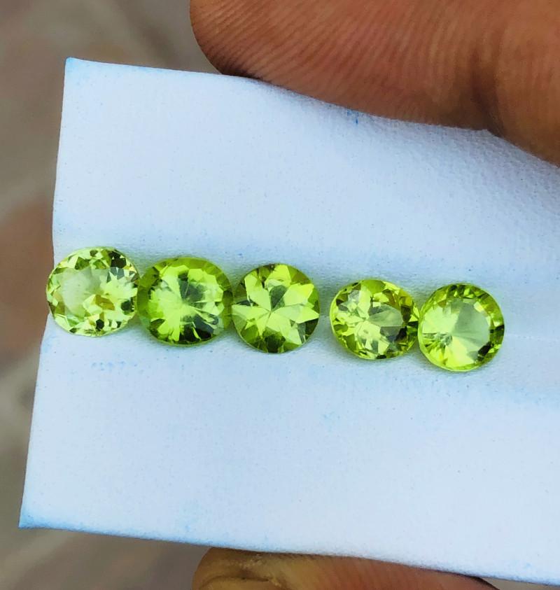 4.90 Ct Natural Greenish Transparent Peridot Gemstones Parcels