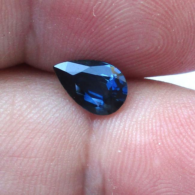 1.31cts Natural Australian Blue Sapphire Pear Shape