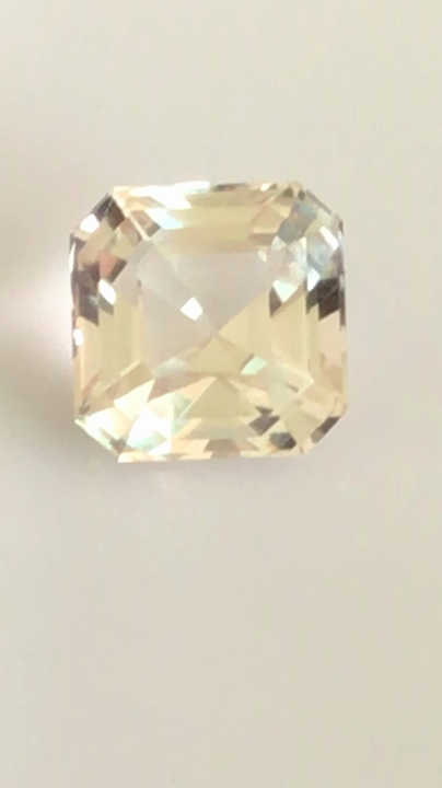 Glowing 5 55ct Asscher Cut Untreated Topaz - G468