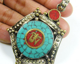 GOLDEN TRIANGLE HILL TRIBE TURQUOISE   86 CARATS GTT 1339