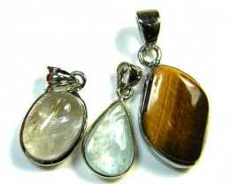 PARCEL THREE MIXED  PENDANTS 34.7     CARATS    AAA 2405