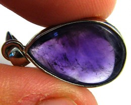 CLEAN CABOCHON AMETHYST  SET IN  PENDANT 8.9 CARATS  AAA2069