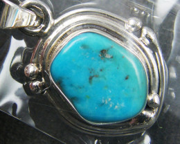 SUN FREEFORM TURQUOISE  STERLING SILVER  PENDANT MYT 370
