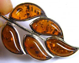 BALTIC HONEY  AMBER CLUSTER SILVER  PENDANT 24 TCW   MYG 910