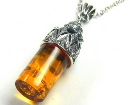 BALTIC HONEY  AMBER    SILVER   PENDANT 20 TCW   MYG 977