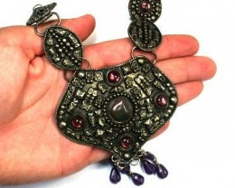 AGED TRIBAL  NECKLACE PLATE  TR29