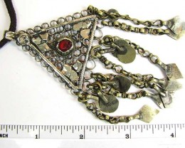 TRADITIONAL TIBETAN SILVER NECKLACE117   CTS TR 840