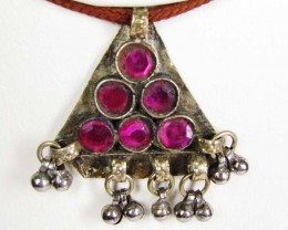 TRADITIONAL TIBETAN SILVER NECKLACE  50 CTS TR 843