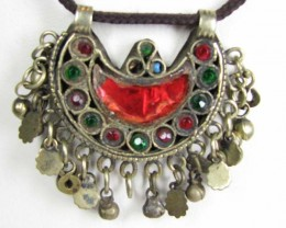 TRADITIONAL TIBETAN SILVER NECKLACE 104  CTS TR 849