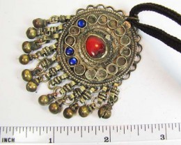 TRADITIONAL TIBETAN SILVER NECKLACE  94  CTS TR 851