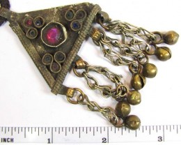 TRADITIONAL TIBETAN SILVER NECKLACE 84  CTS TR 854