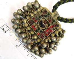 TRADITIONAL TIBETAN SILVER NECKLACE 158  CTS TR 866