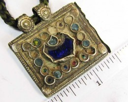 TRADITIONAL TIBETAN SILVER NECKLACE  56 CTS TR 871