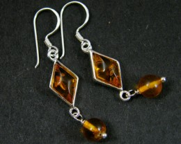 MODERN AMBER  SILVER EARRINGS 13.05 CTS  MYT 726