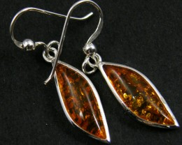 MODERN AMBER  SILVER EARRINGS 16.80 CTS  MYT 732