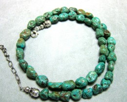 TURQUOISE BEAD NECKLACE  DF-17