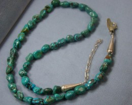 TURQUOISE NUGGET NECKLACE  DF-222