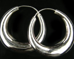 MODERN 20 MM  LOOP STERLING SILVER  EARRING    MYT 486