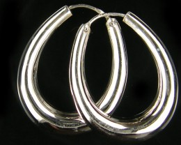 MODERN 30x25  MM  LOOP STERLING SILVER  EARRING    MYT 505