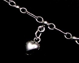 SILVER ANKLET   925  CHAIN  10  INCHES  /  25 CM  CMT 121