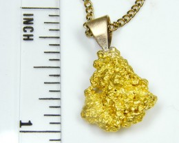 GOLD NUGGET PENDANT  3.75 GRAMS LGN 833