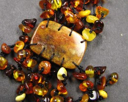 8 STRAND BALTIC AMBER NECKLACE  194 CARATS  MYG 385