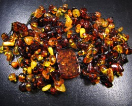 8 STRAND BALTIC AMBER NECKLACE   245 CARATS  MYG 386