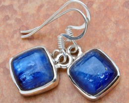 Natural Kyanite and Sterling Silver Earrings 1 1/4 inches