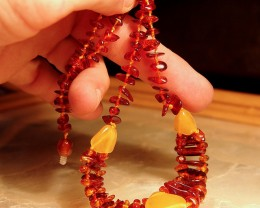 17 Inch Amber Necklace - Lovely Natural Gems