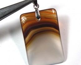 AGATE PENDANTS -SILVER  28.3 CTS  AS-A517