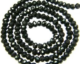 NATURAL BLACK SPINEL STRAND 36.75 CTS [SJ554]
