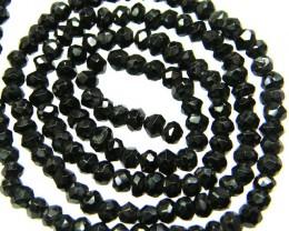 NATURAL BLACK SPINEL STRAND 36.50 CTS [SJ556]