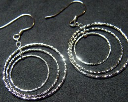 MODERN DESIGN STERLING SILVER EARRING 13.4 CTS[ES21]