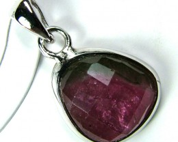 WATERMELON TOURMALINE PENDANTS/SILVER  9.55CTS AS-A663