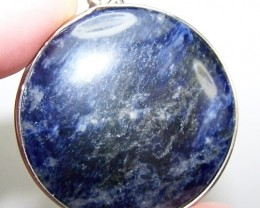 77cttw Stunning Genuine Round Cabochon Sodalite Pendant
