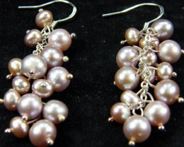 925 SILVER EARRING WITH PEARLS 40.7 CTS [CER08]