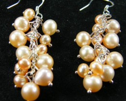 925 SILVER EARRING WITH PEARLS 38.3 CTS [CER11]