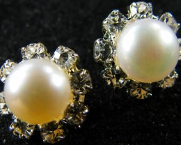 NATURAL PEARL EARRING PAIR 10.9 CTS [EE39]
