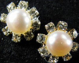 NATURAL PEARL EARRING PAIR 12.5 CTS [EE41]