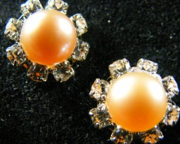 NATURAL PEARL EARRING PAIR 11.1 CTS [EE49]